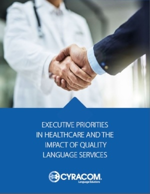 Executive Priorities in Healthcare Whitepaper Cover