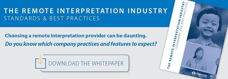 Remote Interpretation Industry Standards WP CTAs CC