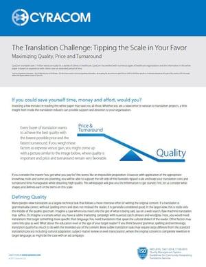 Translation Challenge Whitepaper Cover