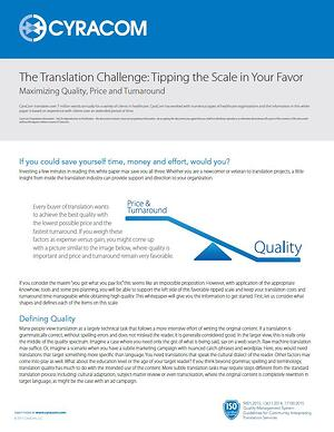 Translation Challenge Whitepaper Cover